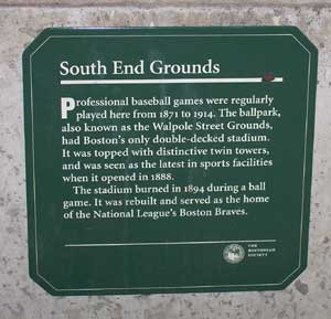 South End Plaque
