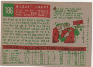 Mudcat Baseball Card