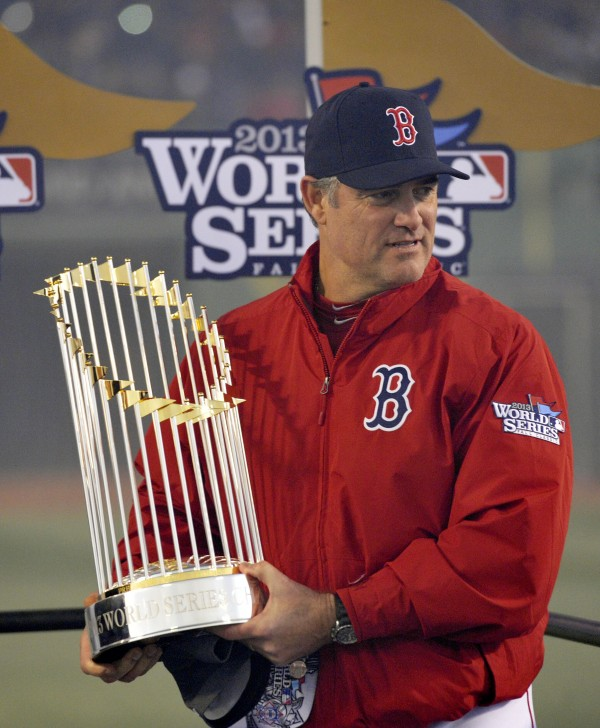 Farrell with 2013 trophy